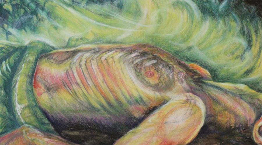 Картина тела Впервые способ этот придумал Поль Сезанн, смешавший прах почившего друга с краской. Сегодня же любой желающий может заказать у специалистов такую краску и нанять художника, чтобы тот нарисовал красивую картину.