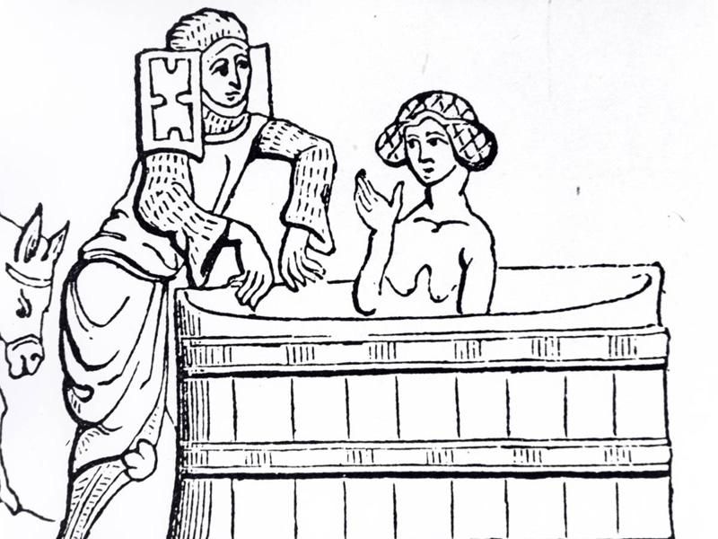 Использование воды на несколько раз Помыться в чистой воде, в которой до тебя не побывала вся твоя семья, было редким явлением. Одиночный душ был для людей средневековья чем-то из области фантастики, особенно для тех, кто жил в большом коллективе.