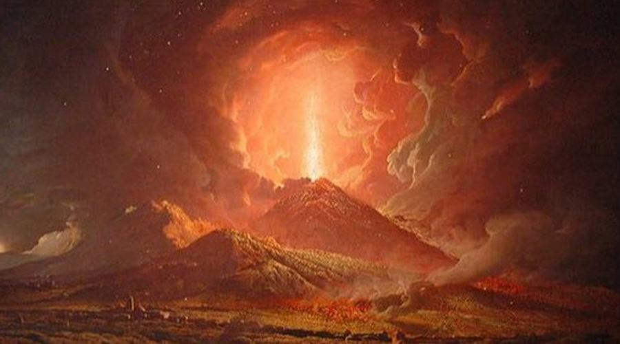 Древняя ядерная бомба Раскаленное облако дыма и пепла столбом поднималось из жерла вулкана, достигая почти сорока километров в высоту. Современные эксперты считают, что извержение было энергетически сравнимо со взрывом сразу пяти атомных бомб сброшенных на Хиросиму.