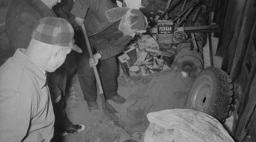 Страшная правда Вся правда о таинственной ферме открылась в ноябре 1975 года. В городке пропала девушка, Вернис Уорден и кое-кто из соседей вроде как видел в тот день Эда Гейни неподалеку от ее дома. Полицейский патруль отправился на ферму, чтобы получить показания у Эда. То, что они увидели, никогда не сотрется из памяти.