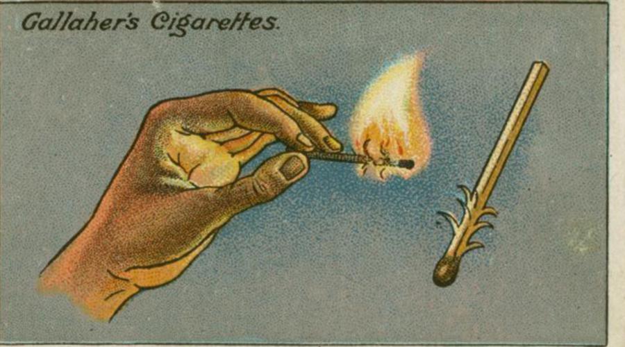Спичка против ветра Странно, что этот элементарный способ зажечь спичку на ветру известен не многим. Всего-то и нужно — просто расщепить деревяшку ближе к серной головке. Пламя сразу перекинется на эти щепки.