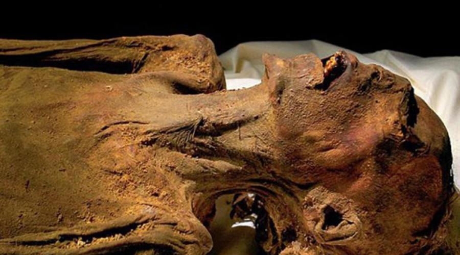 Кричащие мумии Эта загадка так и осталась в разряде вечных. Впервые «кричащую» мумию нашел египтолог Гастон Масперо еще в 1886 году. Она была завернута в овечью шкуру (символ греха и порока в древнем Египте). С тех пор аналогичные останки встречались археологам по всему миру — все с раскрытым ртом, и все укутаны в останки овечьих шкур.
