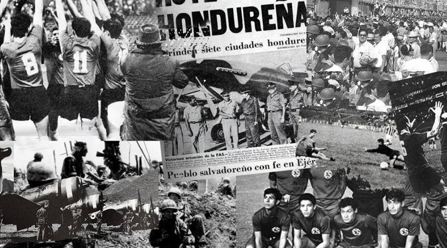 Беспорядки в Тегусигальпе В 1969 году футбольные команды обеих стран столкнулись в полуфинале чемпионата мира. Было решено провести два матча. Первый прошел в Тегусигальпе и закончился беспорядками на улицах — людей охватила настоящая истерия. Одна женщина из Сальвадора застрелилась на глазах у толпы, прокричав напоследок, что не может пережить такого позора своей страны.