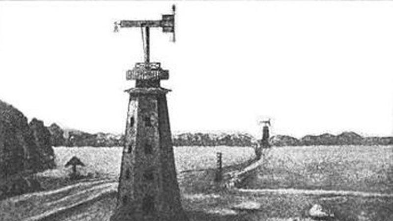 Дальнеизвещающая машина Странно, но одна из наиболее интересных и перспективных разработок Кулибина так и не была запущена в производство. Своеобразный оптический телеграф передавал сообщения путем изменения положения реек — приемная станция должна была находиться в прямой видимости передающей. Для этого Кулибин дополнительно придумал специальную систему башен.