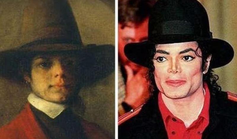 Майкл Джексон/Барент Фабрициус Неизвестно, пытался ли голландский художник Барент Фабрициус осветлить кожу и нос поправить, или Майкл проделал все эти операции подсознательно, чтобы стать похожим на себя из прошлой жизни.