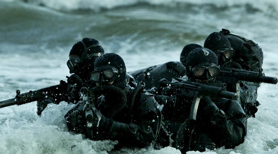 Американская работа на выносливость Нельзя сказать, что американцы во многом проигрывают российскому спецназу. Однако, судя по открытым данным (к примеру, та же основа тренировок «Морских котиков» тиражировалась в западной прессе неоднократно), основной упор делается на повышение выносливости бойца. Кроме того, американские спецназовцы гораздо больше опираются на командные действия, что отодвигает индивидуальную боевую подготовку на второй план.