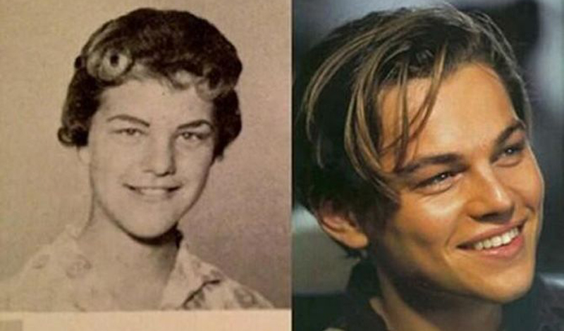 Леонардо Ди Каприо/Джуди Зиппер Молодого Ди Каприо частенько обвиняли в излишней женственности. Так может потому, что он просто был воплощением американки Джуди Зиппер? Похожи-то они невероятно!