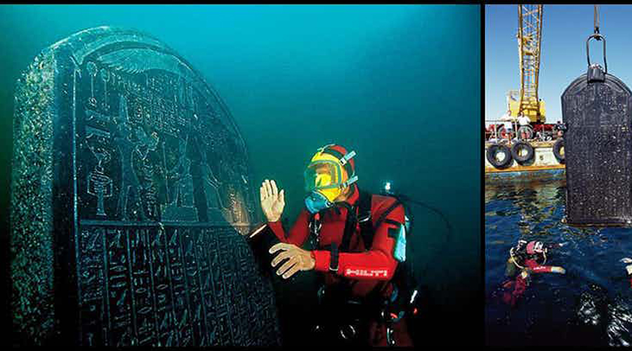 Затонувший город Гераклион Обнаруженный в 2000 году Франком Годдио, Гераклион (также известный как Тонис) находится на средиземноморском побережье Египта, к северу от Александрии. Город долгое время считался мифическим, поскольку затонул примерно 1200 лет назад. Водолазы подняли со дна поистине уникальные артефакты — золотые монеты, каменные статуи, бронзовые таблички и 60 кораблей, стоящих, судя по всему, в гавани. Как могли затонуть корабли? Почему местные жители не использовали их? Больше вопросов, чем ответов.