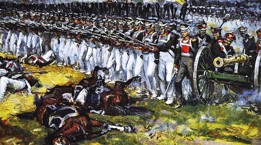 Плотный строй против кавалерии Этот же фактор определял и построение линейной пехоты: каре в какой-то мере обеспечивало защиту от кавалерийского удара, но каждый солдат успевал сделать лишь по одному выстрелу до того момента, как лицом к лицу столкнется с удалым кавалеристом на лихом коне. Итоги таких встреч получались удручающе предсказуемыми, что и привело к началу разработок более эффективного огнестрельного оружия.