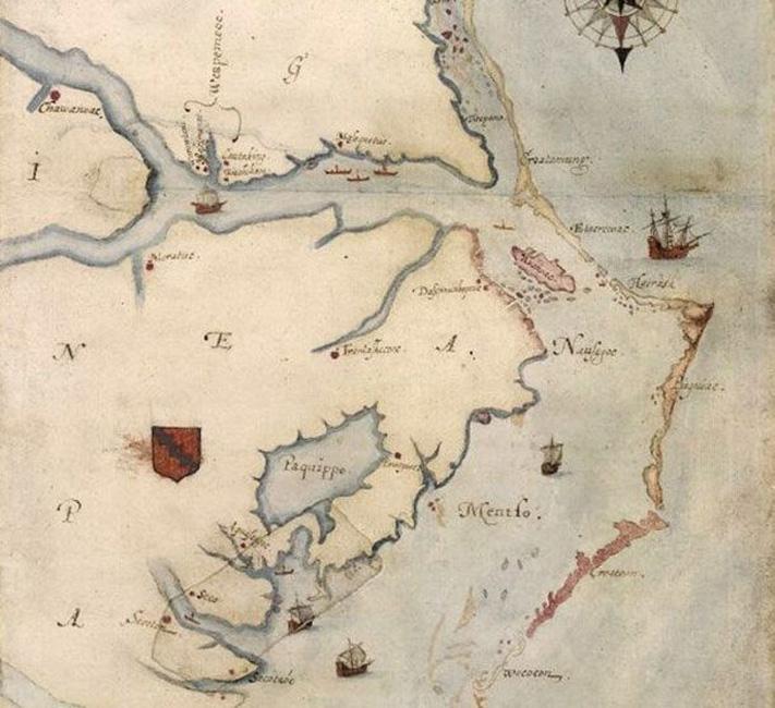 Колонисты Роанока В 1587 году большая группа из 115 британских колонистов высадилась на острове Роанок, современная Северная Каролина. Губернатор Уолтер Уайт спустя несколько месяцев поехал в Англию за припасами. Вернулся он только через три года, колония исчезла полностью. Никаких следов, кроме пугающего слова «Croatoan», вырезанного на одном из домов, не осталось.