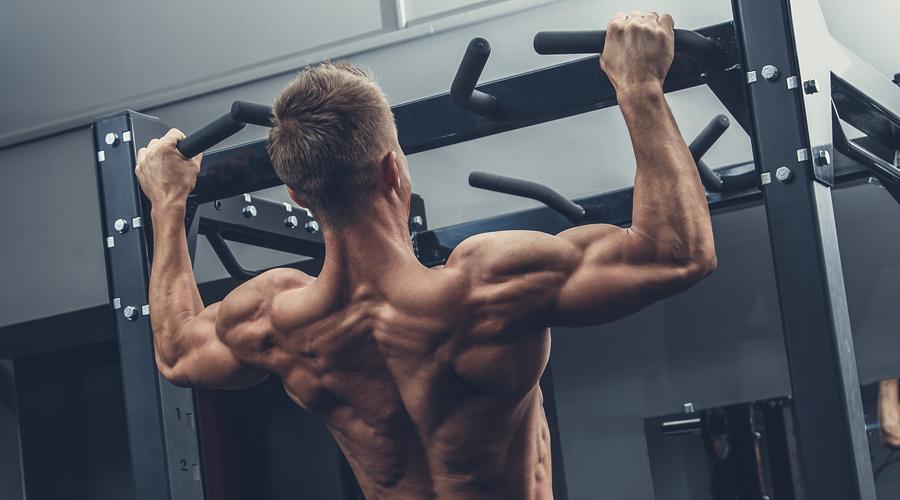 Подтягивания Верите или нет, но подтягивания даже с собственным весом заставляют работать мышцы всего тела. Это чрезвычайно действенное упражнение, формирующее идеальное мужское телосложение. Только выполнять его нужно правильно, четко контролируя скорость и напряжение мышц.