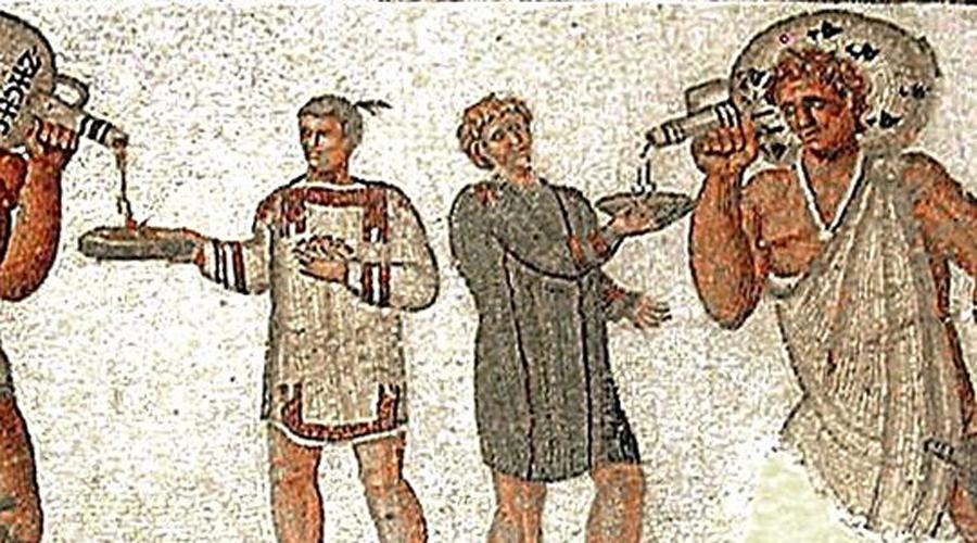 Никаких пиров В 181 году до нашей эры римляне приняли закон Гая Орхидия об ограничении денег, которые можно было потратить на пир. Затем Сенат постановил, что этого маловато и принял уже Фанниев закон: в будние дни дома можно было принять не более троих гостей, а в базарные — не более пяти.
