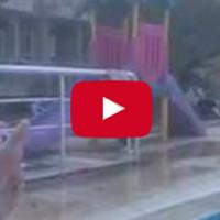 Пьяный турист пытается прыгнуть в бассейн. Результат распугал весь турецкий отель!