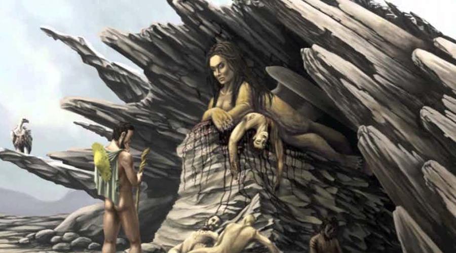 Это не сфинкс И наконец, технически египетский сфинкс вообще не сфинкс. Сфинкс — это крылатый монстр Фив, имеющий женскую голову и тело льва. У египетского же сфинкса нет ни крыльев, ни женской головы — он совершенно однозначно мужского пола. Кто же это? А вот непонятно.