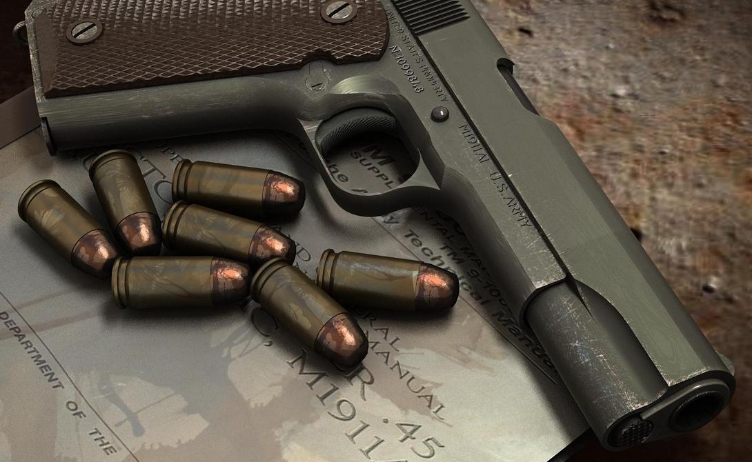 Colt M1911 До самого 1990 года автоматический пистолет Colt M1911, разработанный Джоном Браунингом еще в 1911 году стоял на вооружении американской армии, причем безо всяких модификаций с 1926 года. Конструктивно простой, идеальный в боевых условиях пистолет кое-где используется и в наше время.