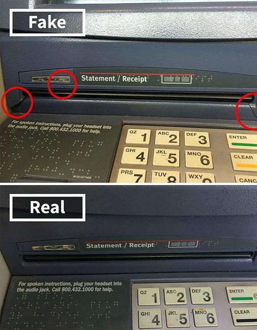 Скимминг Пожалуй, наиболее популярный способ мошенничества. Преступники устанавливают на банкоматы специальное устройство-скиммер, копирующее данные магнитной полосы. Различить профессионально изготовленный гаджет человеку неподготовленному практически невозможно.