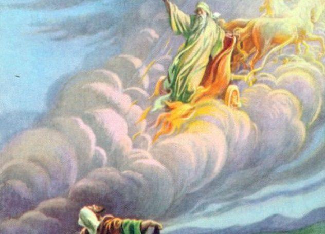 Пылающая колесница В Книге Иезекиля описано не менее странное событие. Божьи посланцы тут спускаются на Землю в летательных аппаратах, причем колесовидной (то есть, круглой формы). Приземляясь же аппараты эти окутывались столбами дыма и огнем. Прямо как современные ракеты!
