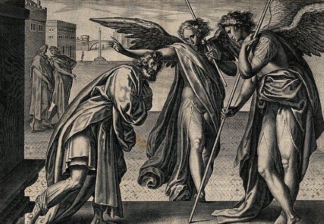 Уничтожение Содома и Гоморры Весь инцидент Содома и Гоморры вполне можно интерпретировать как прямое доказательство использования ядерного оружия. Помните жену Лота, обратившуюся в соляной столб при взгляде на уничтожение погрязших во грехе городов? Затем, в одном из стихов описывается, как Авраам рассматривает разрушенный город: «Он посмотрел вниз на Содом и Гоморру по всей земле равнины и Он видел, как из земли выходил густой дым, как дым из печи». Будто реальное описание ядерного взрыва!