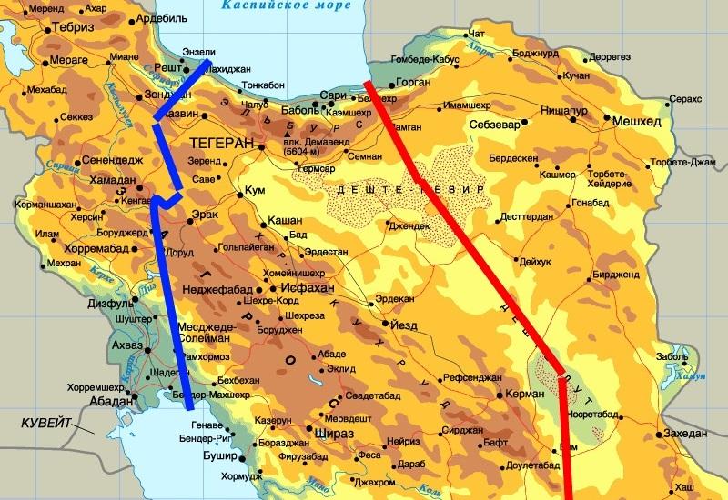 Канал Каспийское Море – Персидский залив Еще в конце XIX века инженеры предложили проект Персидского канала для прохода российского флота в Индийский океан, минуя контролируемые недружественной Турцией черноморские проливы Босфор и Дарданеллы. Есть два маршрута – западный и восточный. Общая протяженность западного – около 1000 километров, восточного – около 1500 километров. Идея строительства канала актуальна по сей день, но ее реализация, как и век назад, осложняется денежными и политическими соображениями: в проекте обязательно должен участвовать Иран, с которым у всего мирового сообщества непростые отношения.
