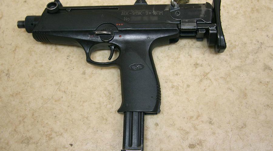 АЕК-919К «Каштан» В качестве основы для разработки нового автоматического пистолета конструкторы Ковровского механического завода взяли австрийский пистолет Штайр MPi 69, базовая основа которого была впоследствии серьезно доработана. «Каштан» используется преимущественно спецназом ФСБ РФ.