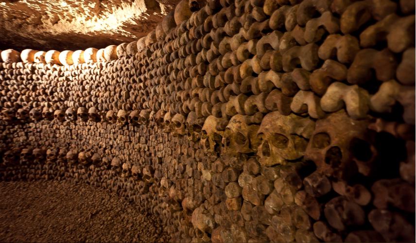 Закрытое подземелье Война действительно не давала французам большого выбора. Свой вход в катакомбы был чуть ли не в каждом квартале. Однако сразу после войны муниципалитет решил раз и навсегда запечатать проклятое подземелье, оставив туристам лишь небольшой участок катакомб.