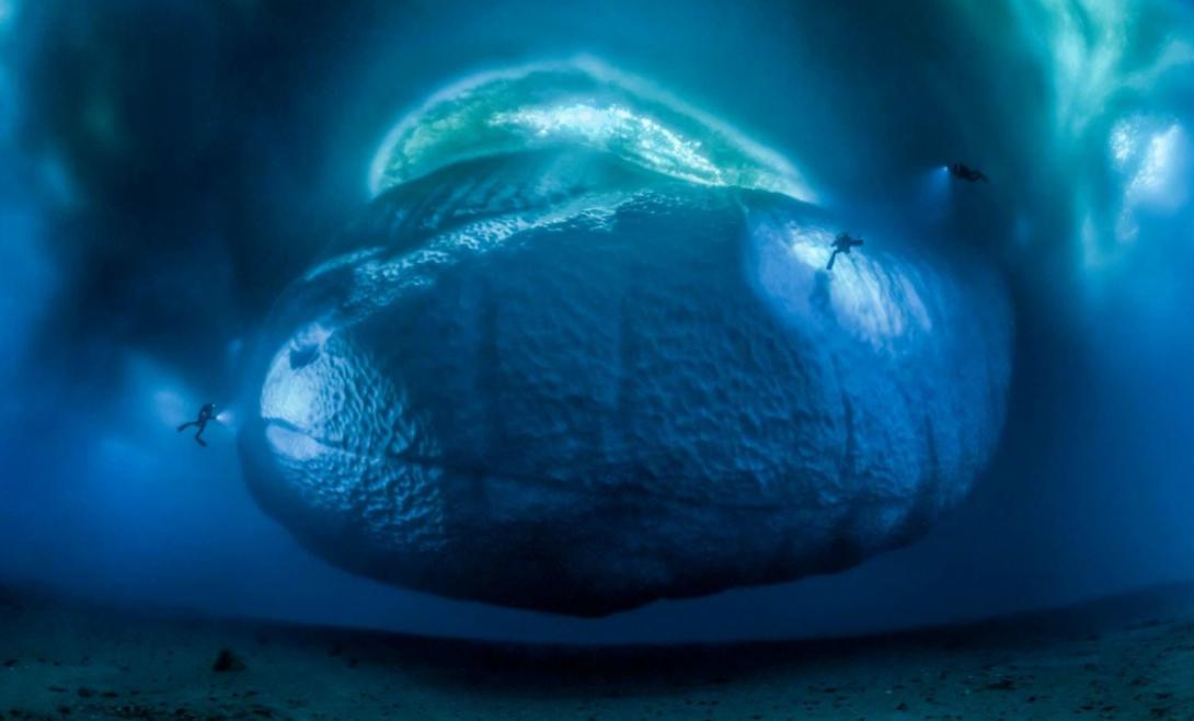 Ледяной монстр Вот так выглядит подводная часть айсберга. И в самом деле, настоящий монстр! Фотография Лорана Баллеста победила в категории «Окружающая среда».