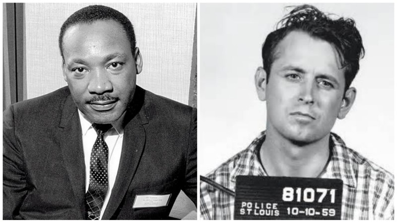 Джеймс Эрл Рей Жертва: Мартин Лютер Кинг За этим убийством скрыта тайна, которая вряд ли будет когда-либо разгадана. Джеймс Эрл Рей подписал чистосердечное признание, однако следствие велось грязно, со множеством несостыковок. Он, якобы, застрелил Мартина Лютер Кинга из соседнего здания, но ни навыков для такого выстрела, ни даже винтовки у предполагаемого «убийцы» не было.