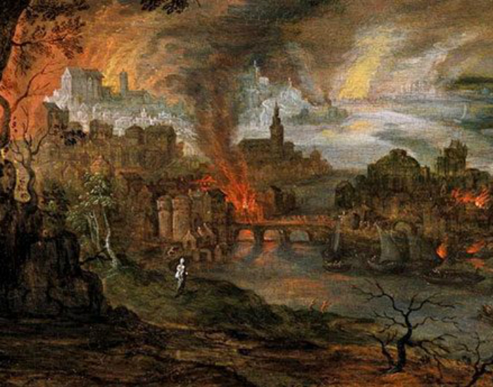 Уничтожение Содома и Гоморры В Книге Бытия говорится, что Бог пролил огонь и серу с небес на Содом и Гоморру. Исследователи обнаружили древнюю клинописную рукопись местного астронома, зафиксировавшего огромный метеорит в небе. Сейчас ученые полагают, что именно он и стал разрушителем сразу двух городов.