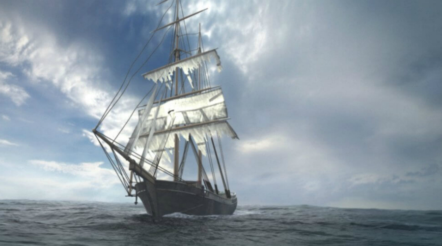 Мария Селеста Это один из самых известных кораблей-призраков во всей истории человечества. В 1872 году бриг «Мария Селеста» обнаружился посреди океана без единого человека на борту. Притом, все личные вещи матросов остались на местах, а в кают-компании был накрыт еще теплый ужин.