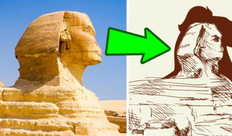 Великий Сфинкс Гизы Небольшая голова Великого Сфинкса вызывает толки в научном сообществе. Роберт Шох, британский геолог, предполагает, что у статуи изначально была морда льва, из которой один из фараонов приказал высечь загадочно улыбающееся лицо. Другой археолог, Грэм Хэнкок, установил корреляцию трех окружающих пирамид со звездами в созвездии Ориона, что также не поддается никакому научному объяснению.