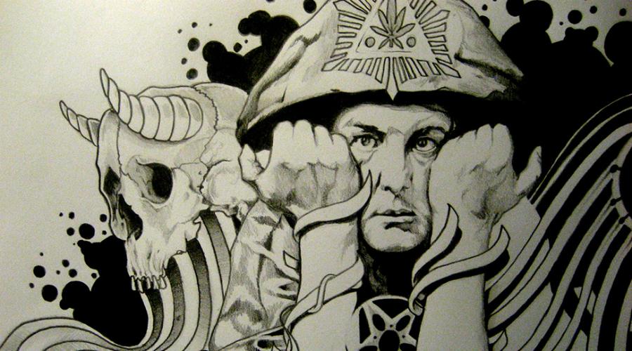 Алистер Кроули Это главный черный маг и сатанист XIX — XX века. Идеолог оккультизма, основатель учения Телемы и автор множества мистических произведений, в том числе и знаменитой «Книги закона». Именно он восхищал Адольфа Гитлера, всегда имевшего склонность к мистицизму.