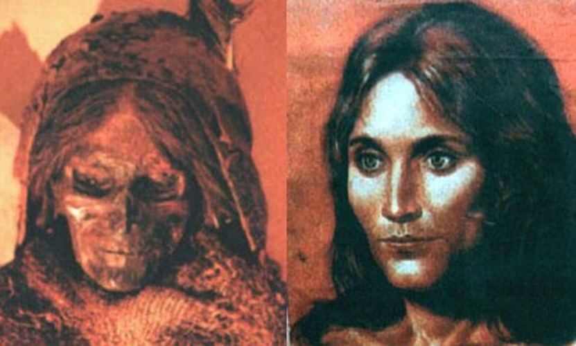 Таримские мумии В начале 1900-х годов шведский исследователь Свен Хедин обнаружил древний город Лулан, похороненный в песках пустыни Такламакан. Цивилизация, построившая этот город, просто не могла здесь находиться: ДНК мумий показали маркеры европеоидов.