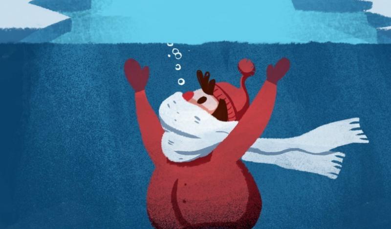 Согреваемся Конечно, согреться в ледяной воде не получится. Однако, можно буквально заставить циркуляцию крови работать вопреки заложенной природой программе: активно (но не хаотично!) двигайте руками и ногами. Так вы помешаете им окоченеть, а значит и сохраните способность двигаться.