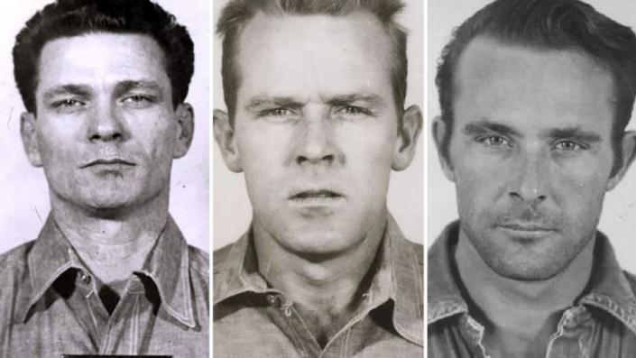 Слева направо: Джон Энглин, Фрэнк Моррис, Клоренс Энглин