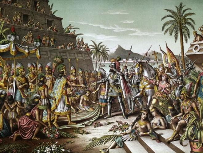 cover-r4x3w1000-58abffb9c877c-Illustration du 19e siècle illustrant rencontre Cortez Moctezuma Crédit Bettmann Getty