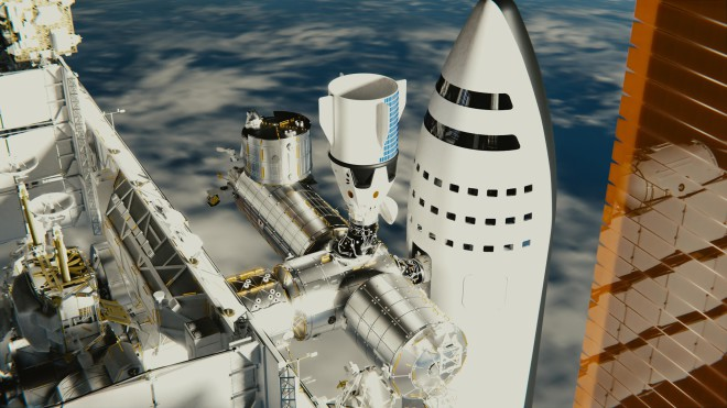 SpaceX BFR spaceship docked to International Space Station by brickmack
