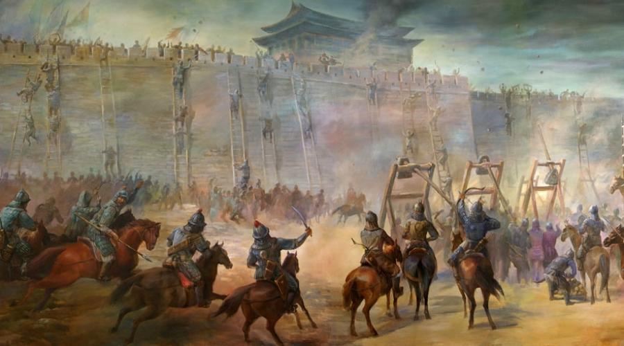 Монгольская империя С 1206 по 1405 год Монгольская империя оставалась крупнейшей в мире. Сформированная еще Чингисханом дисциплинированная армия кочевников превратилась в прекрасно организованную машину смерти. Осажденные города монголы сжигали дотла, жителей убивали или уводили в рабство. По оценкам историков, за время существования Монгольской империи погибло 30 миллионов человек.