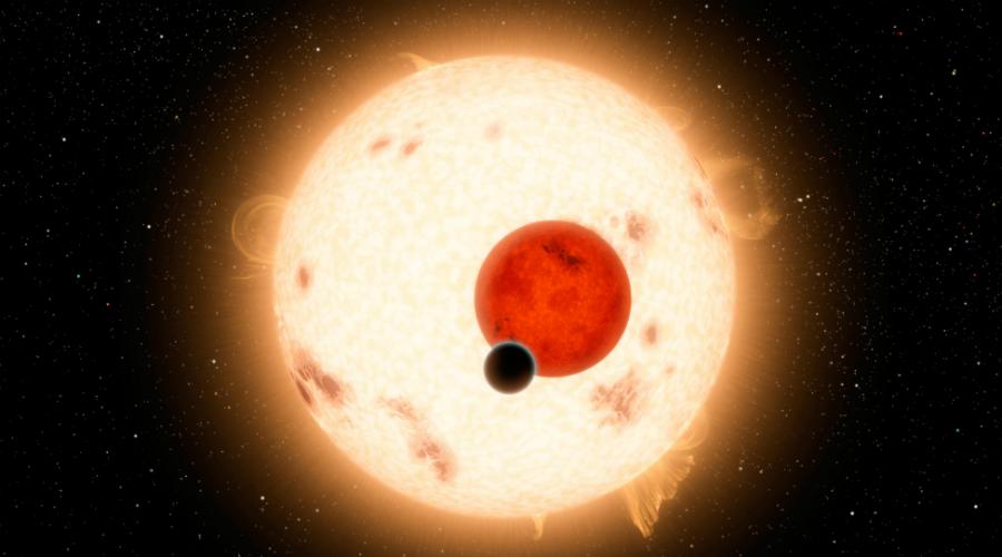 Самая горячая KELT-9b Звезда KELT-9 в два с половиной раза массивнее солнца, а планета KELT-9b находится очень близко к ней. На поверхности температура достигает колоссальных 4300 градусов Цельсия — для сравнения, на том же Меркурии температура не превышает каких-то 430 градусов.