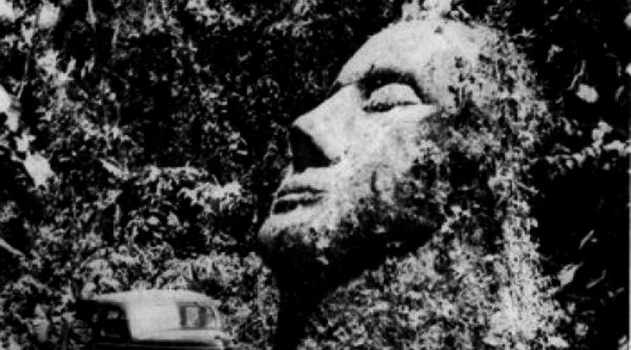 Каменная голова В 1930-х годах исследователи обнаружили огромную статую из песчаника. Она стояла посреди гватемальских джунглей и напоминала каменные изваяния майя. Фактически, это был удлиненный череп с мелкими чертами лица, прямо как из учебника истории. Ученые пришли к выводу, что этот артефакт – не изображение человека, поскольку он имел признаки гораздо более продвинутой особи, вовсе не похожей на тех, кто населял Америку во времена ее создания. Некоторые предположили, что голова – часть огромной конструкции, которая находится под землей. Было распространено и мнение о мистификации. К сожалению, сейчас выяснить правду невозможно – голова была уничтожена во время одной из революций.