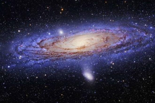 А вот так выглядит обычная галактика, где темная материя есть