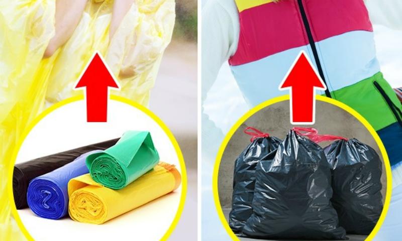 Пакет против холода Обычные мешки для мусора помогут сохранить тепло в холодную или ветреную погоду. Главное, обернуть полиэтилен плотно, чтобы ветер не проникал под защиту. Наденьте сверху одежду и вы очень быстро согреетесь.