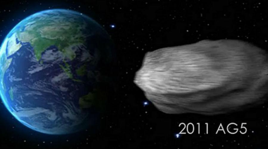 2011 AG5 Диаметр астероида 2011 AG5 составляет около 140 метров. Этот объект будет несколько раз проходить очень близко от Земли: его ожидают в 2036, 2040, 2045, 2046, 2051, 2052 и 2057 годах. Опаснее всего сотрудники НАСА называют 2053 год, когда астероид пролетит всего в 4013 километрах от поверхности нашей планеты. Шансы столкновения не так уж малы — 1 к 625.