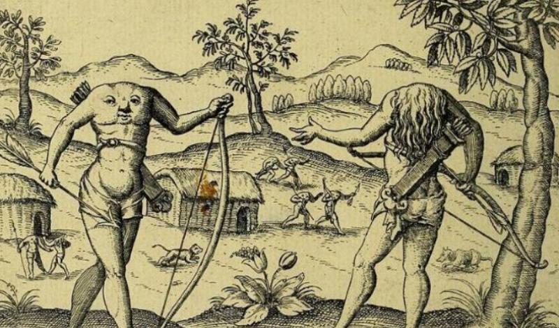 Блемми Греческий историк Геродот был уверен, что в 5 веке до нашей эры в Ливии обитали племена безголовых людей. Рты, глаза и носы у них располагались якобы прямо на груди. Спустя 400 лет о них же рассказал публике римский философ, Плиний Старший. Английский исследователь Анатоль Фермс уверял, что лично повстречал представителей племени блемми в Эфиопии. Удивительно, но и в 17-м веке появились аналогичные свидетельства от сэра Уолтера Райли, прославленного и авторитетного исследователя.