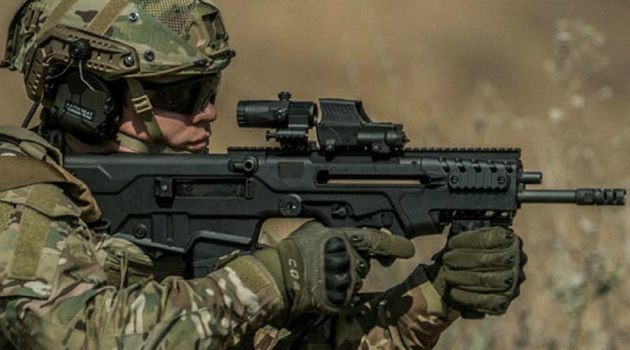 TAVOR 7 AR Индийские спецназовцы из Garud Commando Force обзавелись модифицированной версией TAVOR 7 AR - IWI калибра 7,62x52. Это оружие в скором времени полностью заменит стоящий сейчас на вооружении TAR-21.
