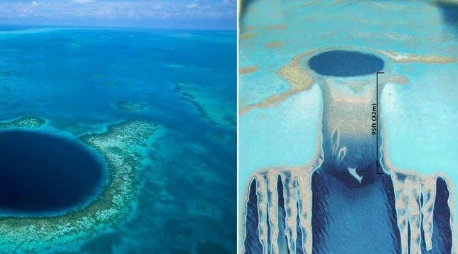 Откуда она взялась Естественно, просто так в Мировом океане непонятная дыра образоваться не могла. Исследователи выяснили, что примерно 150 тысяч лет назад Большая голубая дыра вовсе не была ни голубой, ни большой. Воронка располагалась на суше и была до половины засыпана гипсом, доломитом и известняком. Время шло, уровень океана поднимался, пока не затопил весь регион. Началась эрозия мягких пород, что и привело к образованию самой большой океанской воронки на планете.