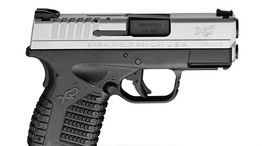 Springfield XDsПроизводитель постарался сделать реально мощный пистолет в сверхмалом корпусе. Springfield XDs выпускается в двух калибрах, 9 мм и .45 — эдакая карманная гаубица.