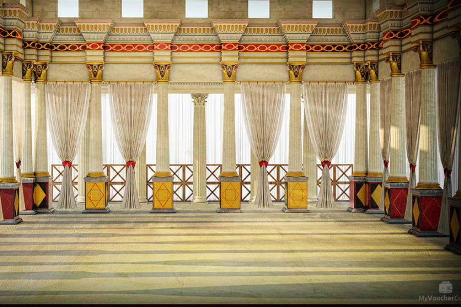 Дворец Ирода Прошлое Ученым удалось воссоздать нижнюю террасу дворца до мельчайших деталей. Она была строилась специально для развлечений: здесь Ирод и его свита могли принимать и гостей.