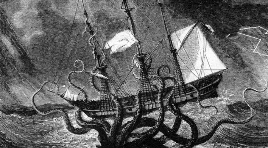 Атака на лодку Рассказы о гигантских кракенах, способных утащить под воду целый корабль, вполне могли основываться на реальных историях. В 1922 году Робин Лесли вышел на лодке в залив у Нью-Джерси. Порыбачить как следует Лесли не успел: из воды показалось огромное щупальце, плотно обвившееся вокруг мачты. Второе щупальце схватило самого Робина — осьминог так бы и утащил его под воду, если бы рядом не было другой лодки. Люди подошли поближе и расстреляли щупальце на мачте, после чего подводный охотник решил поискать добычу попроще.