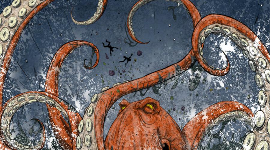 Нора смерти Осьминоги часто поджидают добычу у своих нор. Гордону Хейсти пришлось на собственной шкуре убедиться, насколько действенный это способ охоты: Гордон рыбачил с берега и когда леска зацепилась за какую-то корягу, пошел к ней. Он стоял примерно по пояс в воде, когда его схватил осьминог и потащил в подводную нору. Вокруг разлились чернила. Перепуганный до смерти Хейсти достал нож и стал резать куда попало, пока осьминог в конце концов не сдался.