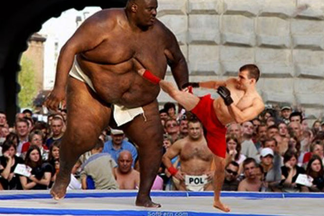 Мощь толстяков на ММА-ринге: титаны веса выходят против профи